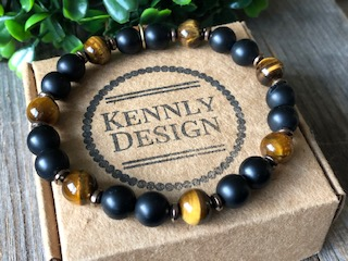 Mens beaded gemstone jewelry