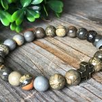 Men brown gemstone bracelet