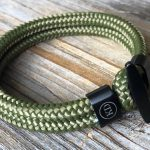 Green paracord bracelet