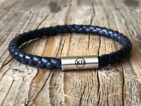 Bleu leather bracelet